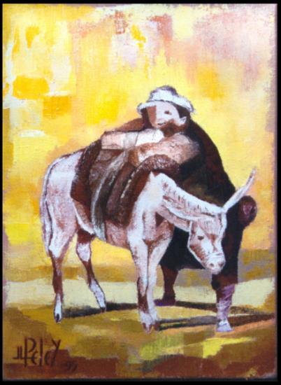 008.0Sancho Panza  1995  (huile sur toile 33 x 25 cm)