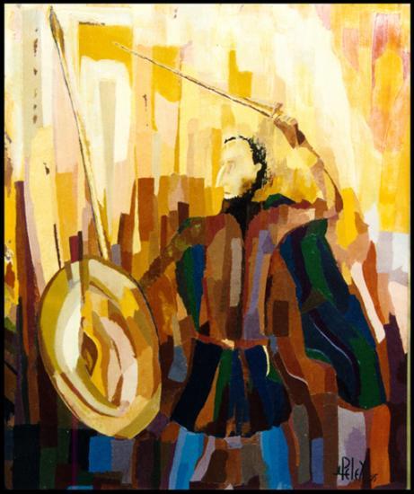 008 Don Quichotte  1995  (huile sur toile 60 x 75 cm)