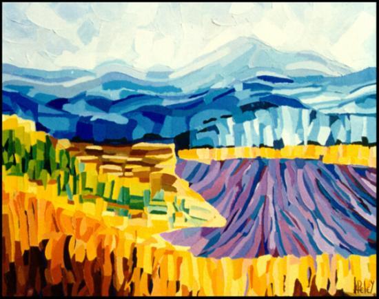 009 Mont Ventoux face sud  1996  (huile sur toile 75 x 60 cm