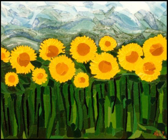 010 Tournesols  1996  (huile sur toile 61 x 51 cm)