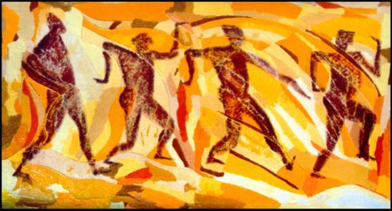 013 Rythme  1994  (huile sur toile 75 x 45 cm)