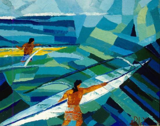 019 HOE RAA VAA  1997  (huile sur toile 42 x 35 cm)