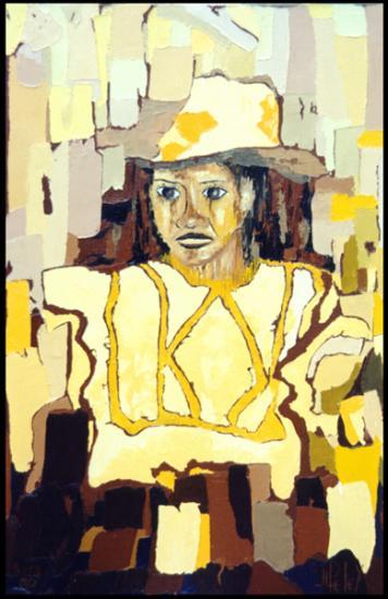 021 VAHINE E TONA TAPOO  1998  (hst: 38 x 55 cm)