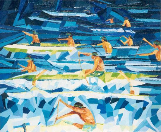 035 HAWAIKINUI VA'A 2001  50x61