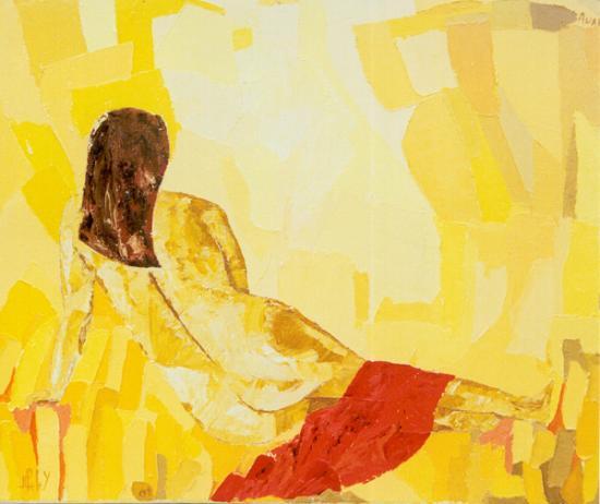 070 AUAHI  (feu) ( hst: 46 x 55 cm)   2001