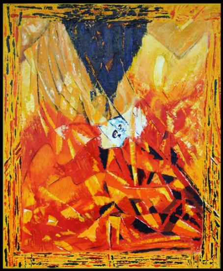 136 Pioraa (courbe)  2008 hst 50x61cm