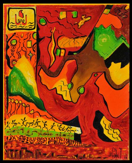 144 geko et manua créateurs de vavau 2009 h.s.t. 42x35cmp